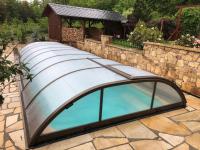 Zastřešení bazénu 8,50 x 3,25 x 0,9 m Bakov (pl)
