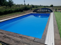 Zastřešení bazénu Elegant NEO 8,5 x 4,5 x 0,9 m Jasenná (pl)